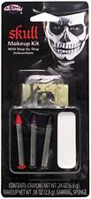 Fun World Skull Makeup Kit with Step-By-Step Instructions