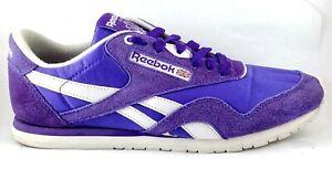 Reebok Classic Nylon Sneaker Ultra Violet shoes Women's US 8, UK 5.5, 25 cm RARE