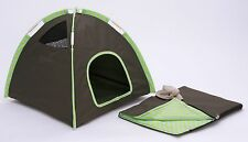 Marshall Ferret Toy Dog Kitten Cage Camping Set - Sleeping Bag + Hat + Camp Tent