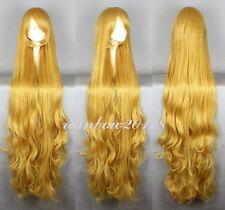 "53"" Golden Blonde GOSICK Victoria American De Blois Wavy  Anime Cosplay Wig"