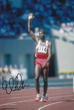 Edwin Moses Hand Signed 1988 Photo 12x8 1.