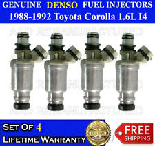 23209-16120 Set of 4 BRAND NEW Toyota OEM Injectors Corolla Celica 1990-93