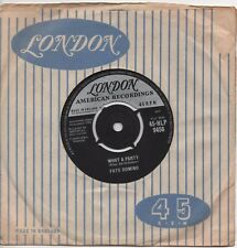 FATS DOMINO what a party*rockin' bicycle 1961 UK LONDON 45