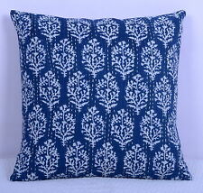 Indian Decorative Kantha Handmade Floral Cushion Cover Throw Ethnic Pillow Case