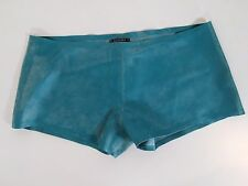 Brand New Invincible Of London Rubber 'Boy' Shorts Turquoise Blue Medium Gay Int