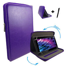360 ° 7 Pollici Tablet Custodia-Point of View Mobii i550-Zipper LILLA 7