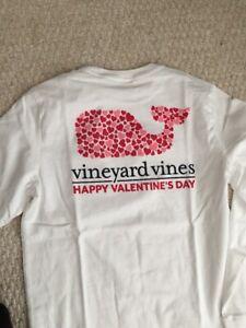 NWT Vineyard Vines Boys L/S  Heart Whale Pocket T-Shirt Happy Valentines Day