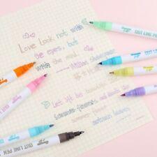 8Colors Drawing Double Lines Outline Pen Highlighter Marker Pen 8Color Art Pens