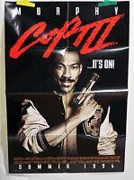 "Eddie Murphy Movie Poster Cops II Folded One Sheet 40"" x 27"" 1994"