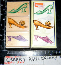 FANCY SHOES 3 RUBBER STAMPS HERO ARTS SLIPPER