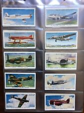 wills cigarette cards Speed plane aviation Cars Motorcycle COMPLETE set of 50