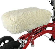 Universal Knee Walker Rest Pad Cover Plush Synthetic Sheepskin Rolling Scooter
