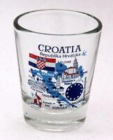 CROATIA EU SERIES LANDMARKS AND ICONS COLLAGE SHOT GLASS SHOTGLASS