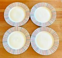 """Laura Ashley Kaleidoscope (4) Dinner Plates 10.5"""" Discontinued! FAST SHIP"""
