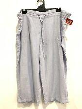 Per Se Plus Size Women's Pants Linen Blend 3XL