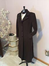 LL COLLEZIONI ITALIA 100% Cashmere Women's 6 6P Long Dress Coat Espresso Niiiice