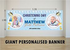 Personalised GIANT Large Boys Christening Baptism Animals Poster Banner N23