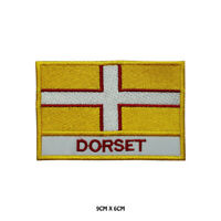 DORSET County Flag With Name Embroidered Patch Iron on Sew On Badge For Clothes