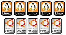 10 Linux Ubuntu Tux Stickers Computer Laptop Badge Decal  HIGH QUALITY LABELS