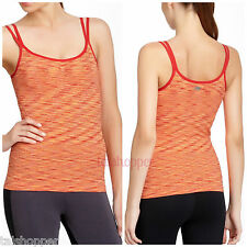 Marika Tek Seamless Tank Sportswear Yoga Built In Bra Top NWT L Large $56 Reds