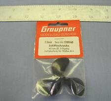 """Graupner Marine Propeller 60mm GR-2308/60 Left Hand M4 thread. 2 1/4"""" Dia"""