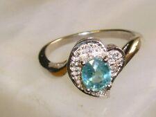 Paraiba Turmalin Silber Ring vergoldet