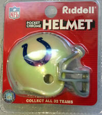 Football Americano NFL Indianapolis Colts Riddell Pocket Pro Casco Cromo