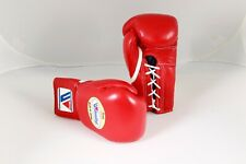 Winning Boxing Gloves (RED) 10oz Lace Up Pro Type MS-300 Handcrafted In Japan