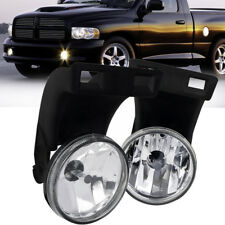 for 94-02 Dodge RAM 1500 2500 3500 Clear Front Bumper Fog Light Lamps+Bulbs PAIR