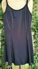 L.L. Bean Women's Swimsuit Black Size 8 Long One Piece With Skirt Underwire Bra