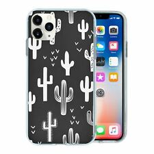 For Apple iPhone 11 PRO MAX Silicone Case Cactus Pattern - S6608
