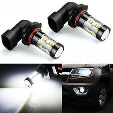 JDM MAD 2x 50W H10 9145 LED White Fog DRL Running Lights Bulbs CREE High Power