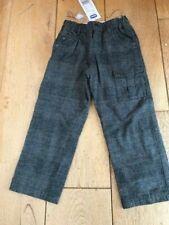 Chicco GRIGIO CHECK Smart Pantaloni 7 Y NUOVO CON ETICHETTA