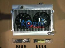 "3 Row 52mm Aluminum Radiator & Twin 7"" Thermo Fan for Datsun 1600 Manual MT"