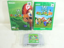 Nintendo 64 MARIO GOLF 64 Item Ref/bcb JAPAN Boxed Game n6