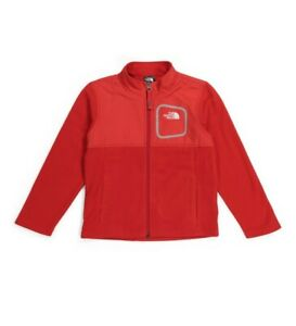 THE NORTH FACE Toddler Boys Fleece Zip Up Jacket NEW RED 4T