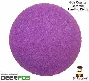 125mm Ceramic Sanding Discs 5in Sandpaper Plain Pads for Hard Wood Steel Metal