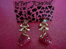 Mugs Dangle Earrings Betsey Johnson Pink Coffee