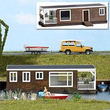 BUSCH 1440 Scala H0 Boat house marrone #nuovo in confezione originale#