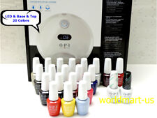 OPI GelColor Dual Cure LED Light GL902 110V- 240V & Base Top Coat & 20 Colors