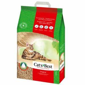 40L Cats Best Oko Plus Original Clumping Cat Litter Toilet Flushable