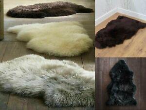 Plain Soft Fluffy Bedroom Living Room Faux Fur Shaggy Sheepskin Rugs Hairy Mat
