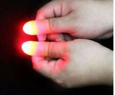2x Magic Light up thumbs fingers trick appearing light close up Toy Stocking