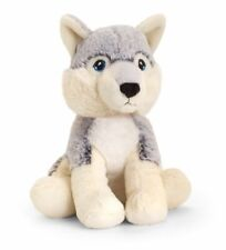 Keeleco 20cm Husky Dog Kids/toddler Soft Animal Plush Stuffed Toy 3y Grey