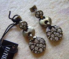Dyrberg Kern Earrings Galatea Antique Bronze Blush