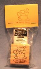 """Stampin' Up! A LITTLE HELLO """"Mouse in Teacup"""" Stamp + Black Ink Spot NIP SEALED"""