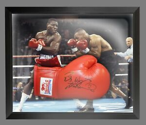 Frank Bruno Hand Signed Red Lonsdale Autograph Boxing Glove In A Dome Frame: A