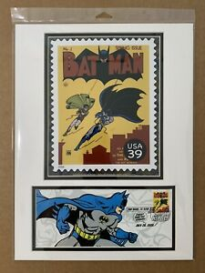 Batman DC Comics 2006 San Diego Comic-Con 12x16 Matted Photo & First Day Cover