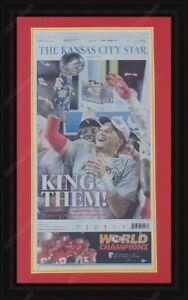 Kansas City Chiefs Super Bowl Champions Framed Original Newspaper Cover Mahomes