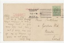 Miss Gwen Hutchins Gordon Road Roath Cardiff 1906 282a